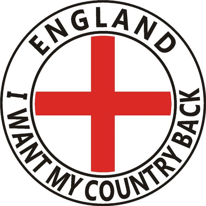 England Car Sticker - I Want My Country Back
